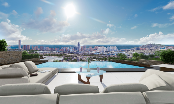 4 Bedroom Sea View Villa for Sale in Finestrat