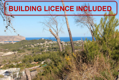 Building plot with panoramic sea views for sale in Cansalades in Javea