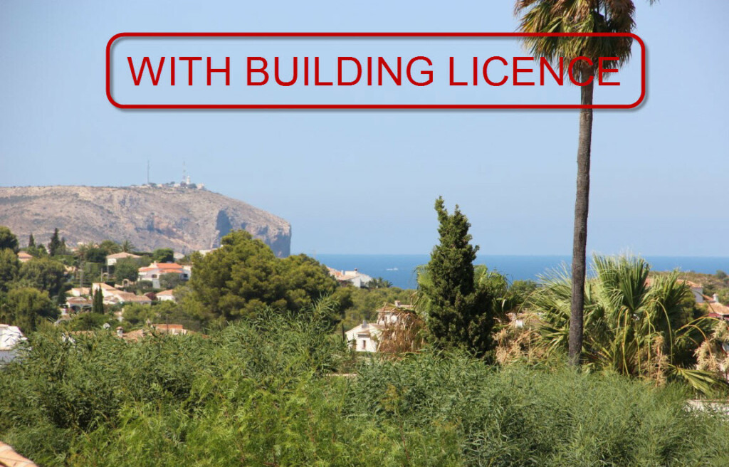 Building plot with panoramic sea views for sale in Javea