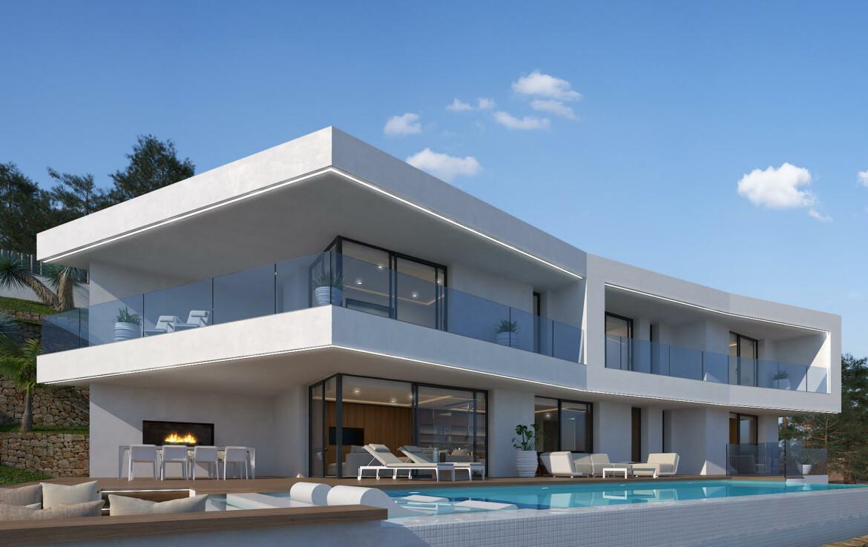 Luxury villa with sea view for sale in Nova Xabia in Javea