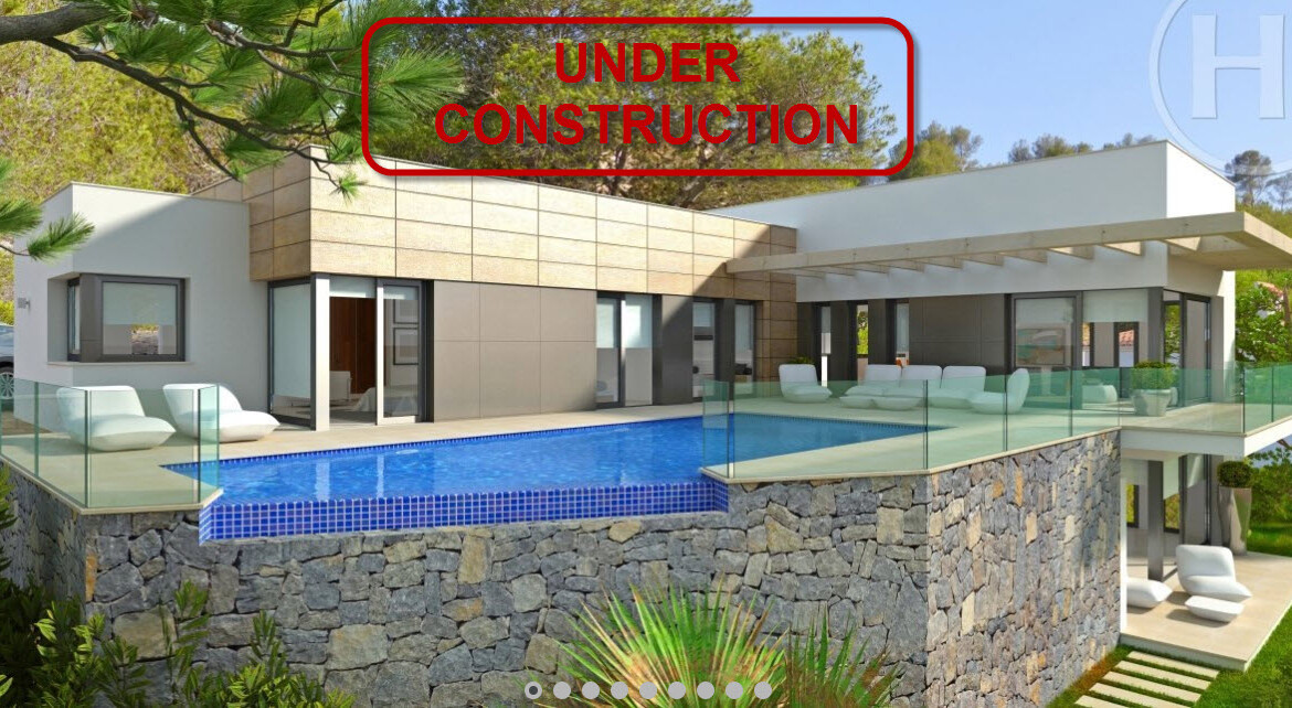 Modern new build villa for sale in Tosalet in Javea with panoramic views