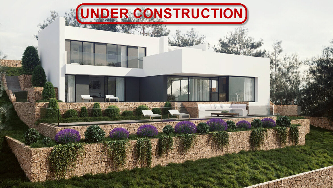 Modern new build villa with sea view for sale in Piver in Javea