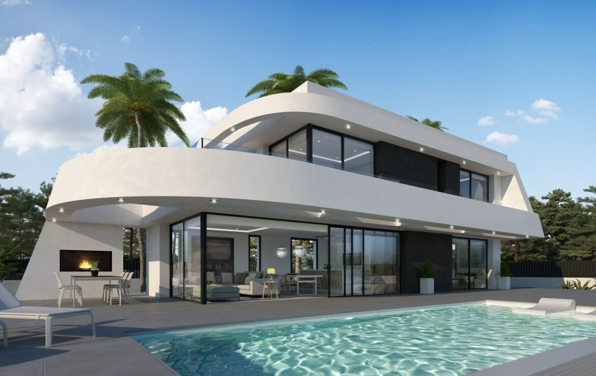 Modern villa for sale in Tosalet in Javea with panoramic view