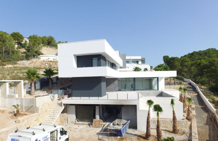 Modern villa with sea view for sale in Tosalet in Javea