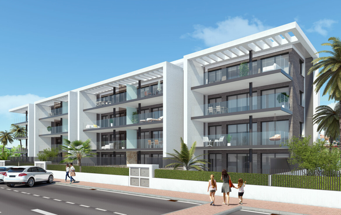 New-build apartments for sale in Javea on the Arenal