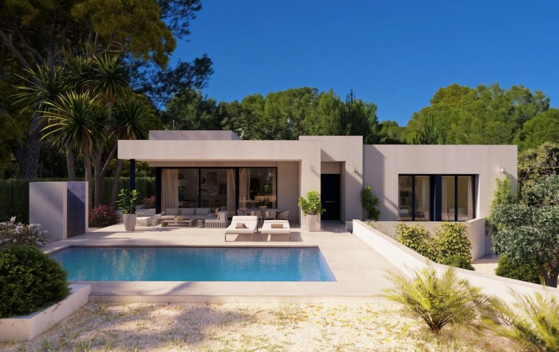 New build single storey villa for sale in Fanadix in Benissa