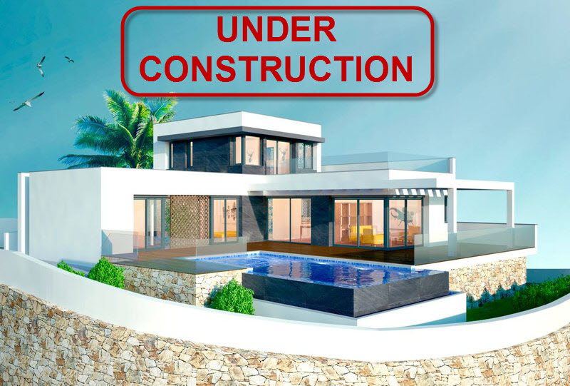 New build villa with sea view for sale in Benimeit in Moraira