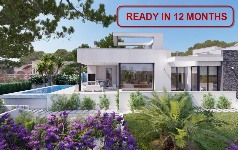 New build villa with sea view for sale in Benissa Costa
