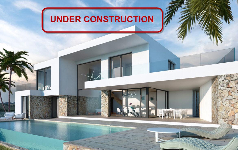 New build villa with sea view for sale in El Tesoro in Moraira