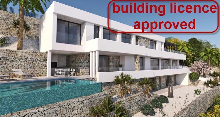 New build villa with sea view for sale in La Corona in Javea