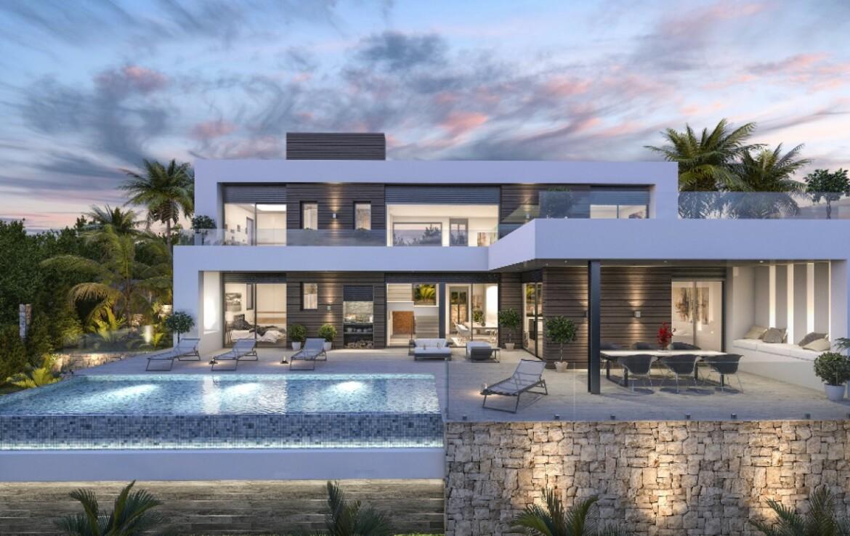 New build villa with sea view for sale in La Sabatera in Moraira