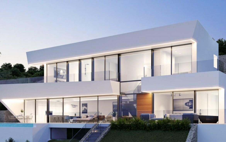 New build villa with sea view for sale in Raco de Galeno in Benissa