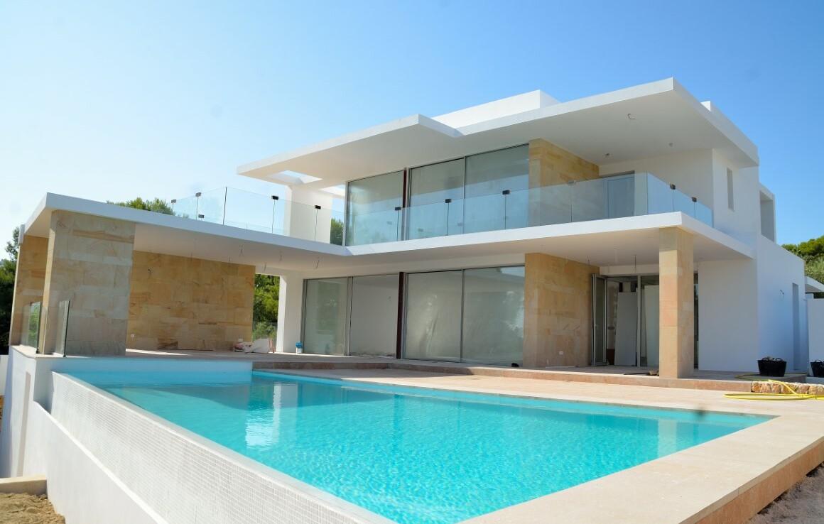 New build villa with sea view for sale in Sabatera in Moraira
