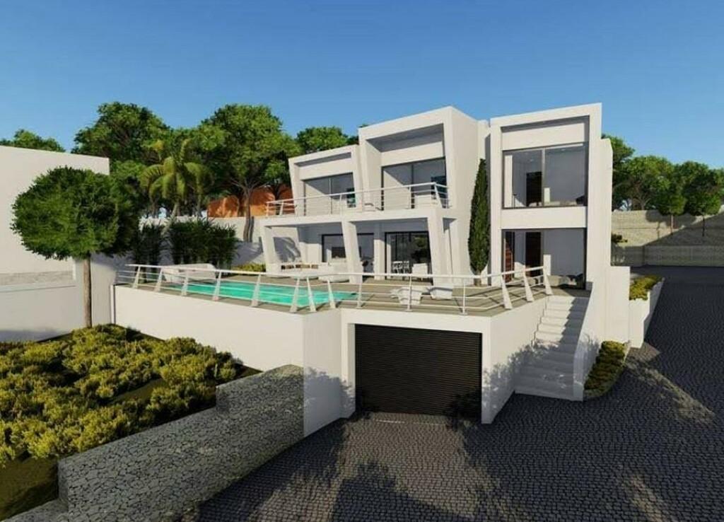 New build villa with sea views for sale in La Fustera in Benissa