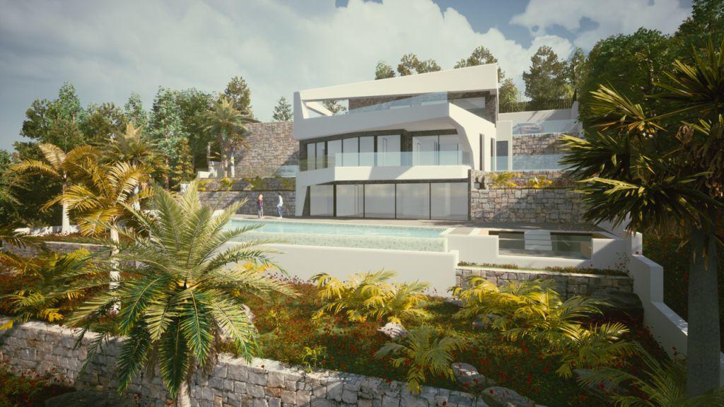 New build villa with sea views for sale in Raco de Galeno in Benissa